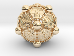 Nucleus D20 XL in 14k Gold Plated Brass