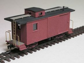 Nevada County NGRR Caboose HOn3 in White Natural Versatile Plastic
