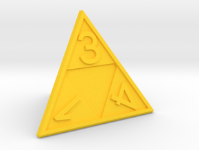 Triforce D4 in Yellow Processed Versatile Plastic