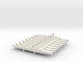 Type 15 frigate x 8, 1/1800 in White Natural Versatile Plastic