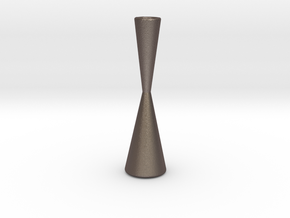 Candle Holder Model Y2 in Polished Bronzed Silver Steel