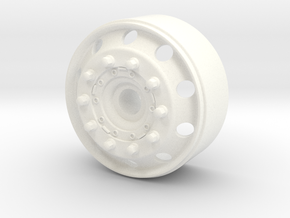 1/24 italeri truck euro wheel  Front  in White Strong & Flexible Polished: 1:24