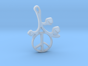 Earthly Spring Peace Sign by ~M. in Smooth Fine Detail Plastic