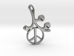 Earthly Spring Peace Sign by ~M. in Natural Silver