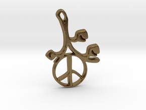 Earthly Spring Peace Sign by ~M. in Natural Bronze