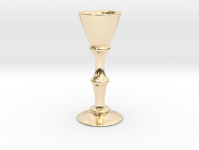 Candle Holder Model S in 14k Gold Plated Brass