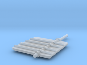 Main Rudder 1-32V3 in Smooth Fine Detail Plastic