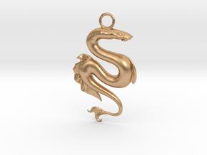 Lamprey Pendant in Natural Bronze