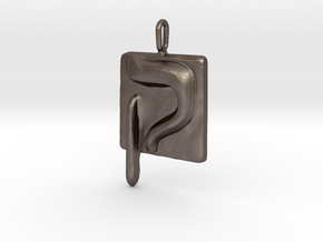 19 Qof Pendant in Stainless Steel