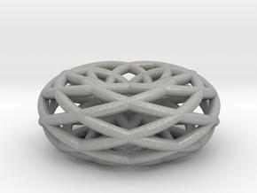 doubleishTorus 6 loop - medium in Aluminum
