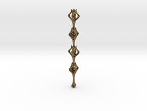 Flora x1 Pendant in Interlocking Raw Bronze