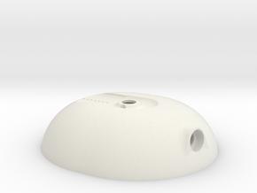 OPEN ALPHA, LEFT CUP.STL in White Natural Versatile Plastic