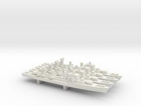 Halland-class destroyer x 4, 1/1800 in White Natural Versatile Plastic