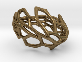 Hexawave Ring-S size in Natural Bronze