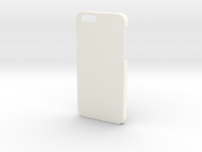 Iphone 6 Case - Name on the back in White Strong & Flexible Polished