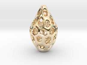 HONEYBIT Pendant. in 14K Yellow Gold