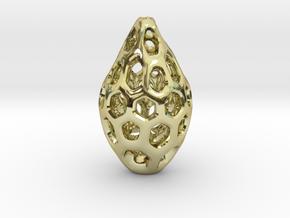 HONEYBIT Pendant. in 18k Gold Plated Brass