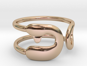 Safety Pin Ring in 14k Rose Gold Plated: 4 / 46.5