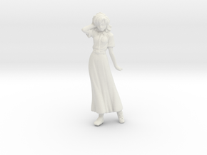 1/32 Racing Staff Member (Lady) in White Natural Versatile Plastic
