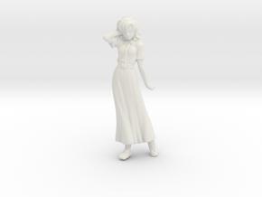 1/32 Racing Staff Member (Lady) in White Natural Versatile Plastic