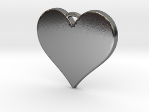 With All My Heart in Polished Silver