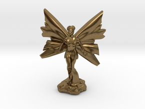 Fairy with large wings, in flight 30mm scale in Natural Bronze