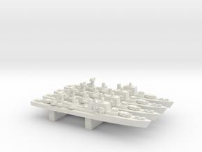 Halland-class destroyer x 4, 1/3000 in White Natural Versatile Plastic