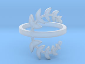 Laurel Leaves (Ring Size 4-11.5) in Smooth Fine Detail Plastic: 4 / 46.5