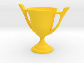 Trophy Cup in Yellow Strong & Flexible Polished