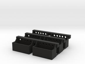 Steps in Black Natural Versatile Plastic