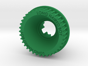 13mm 37T Pulley For Flywheels in Green Processed Versatile Plastic