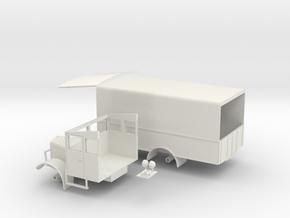 1:43 Albion 5ton L.M.S Parcels Van 1930s in White Natural Versatile Plastic