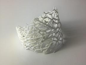 Snowflake Fractal Bracelet in White Natural Versatile Plastic