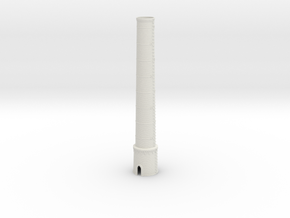 OUch01 Factory chimneys in White Natural Versatile Plastic