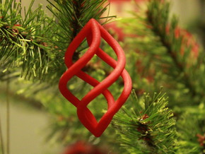 Christmas pendant Sona in Red Processed Versatile Plastic