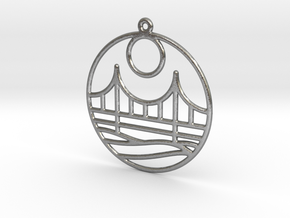 Golden Gate Bridge in Natural Silver