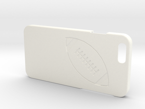 Iphone 6 Case - Name On The Back - Football in White Processed Versatile Plastic