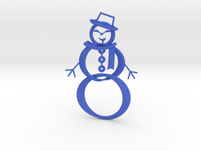 Snowman ornament in Blue Processed Versatile Plastic