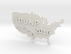 Trump 2016 USA Ornament - Mexico Will Pay For It in White Strong & Flexible
