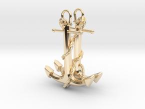 Anchor Earrings in 14K Yellow Gold