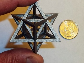Tantric Star in Polished Bronzed Silver Steel