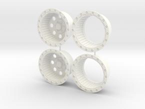 16.5 4x4 rims 1/12 in White Processed Versatile Plastic
