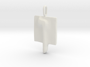 25 Nun-sofit Pendant in White Natural Versatile Plastic