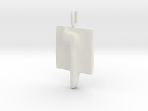 25 Nun-sofit Pendant in White Natural Versatile Plastic
