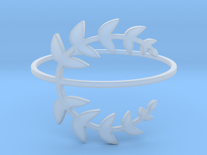 Stack-able Laurel Leaves (Size 4.75 - 11.5) in Smooth Fine Detail Plastic: 4.75 / 48.375