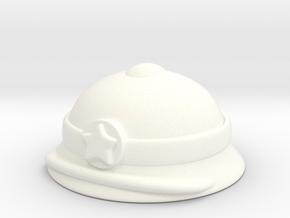 Vietnamese Pith Helmet in White Processed Versatile Plastic
