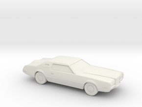 1/87 1972 Lincoln Continental Mark IV  in White Natural Versatile Plastic