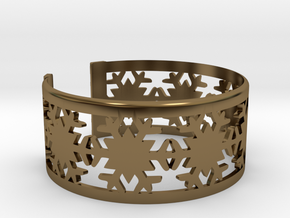 Snowflake Bracelet Medium in Polished Bronze