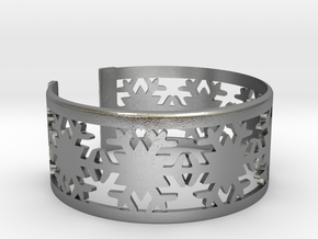 Snowflake Bracelet Large in Natural Silver