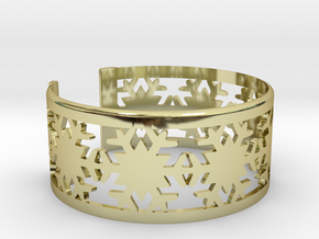 Snowflake Bracelet Large in 18k Gold Plated Brass